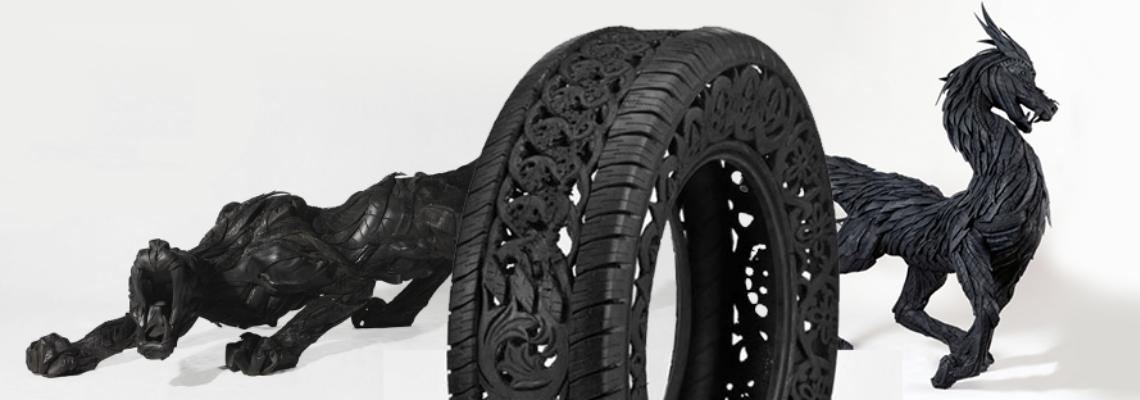 El arte sobre ruedas: Los artistas del neumático