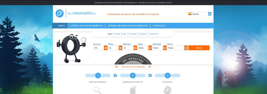 Queneumático lanza una nueva versión de  su comparador de precios